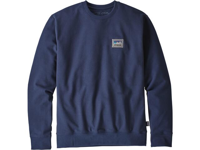 Patagonia Shop Sticker Patch Uprisal Crew Sweatshirt Herr classic navy